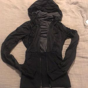Black Lululemon zip up, size 2